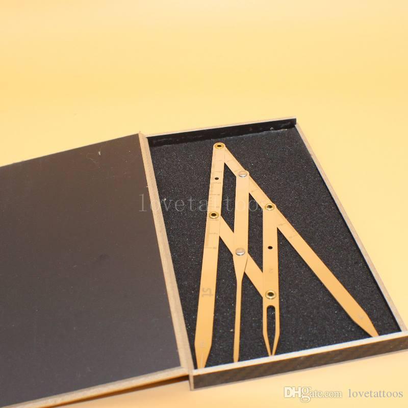 1 kit Ceja Golden Proporción Gobernante Herramienta de medición de maquillaje permanente Mean Golden DIVIDER CALIPERS Eyebrow Microblading