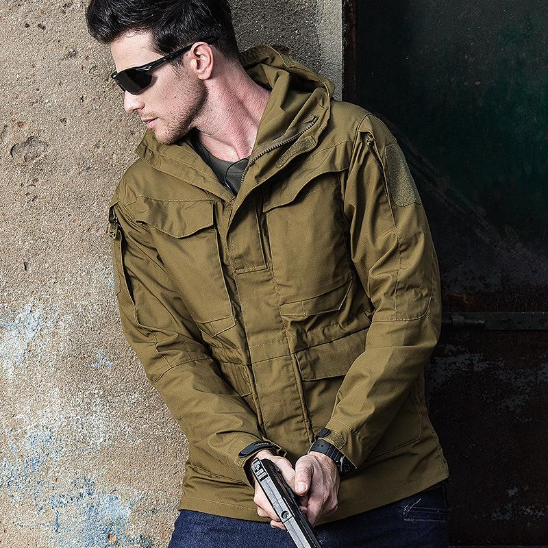 M65 Military Tactical Jacket Camouflage Jacket Men's Trench Coat Autumn Winter Windbreaker Clothes Hooded Army Field Jacket