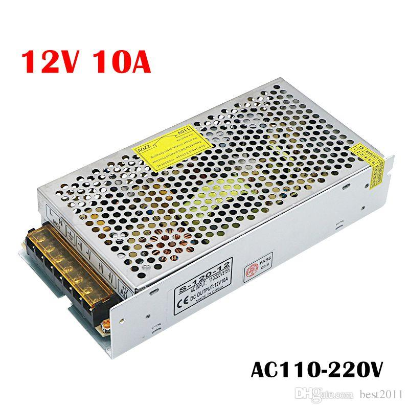 Lighting Transformer 110-220V to 12V 10A LED Driver Switch Power Supply Adapter for 5050 3528 SMD LED Strip