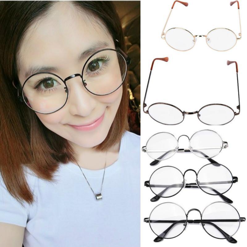 06cfbd5857091 2019 Fashion Clear Lens Eye Glasses Unisex Retro Round Circle Metal Frame  Eyeglasses From Milknew