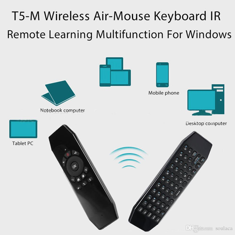 2.4G Air Mouse Wireless Rechargeable Computer Keyboard IR Learning with Microphone for Google Android TV Box, Smart TV, PC, HTPC, Windows