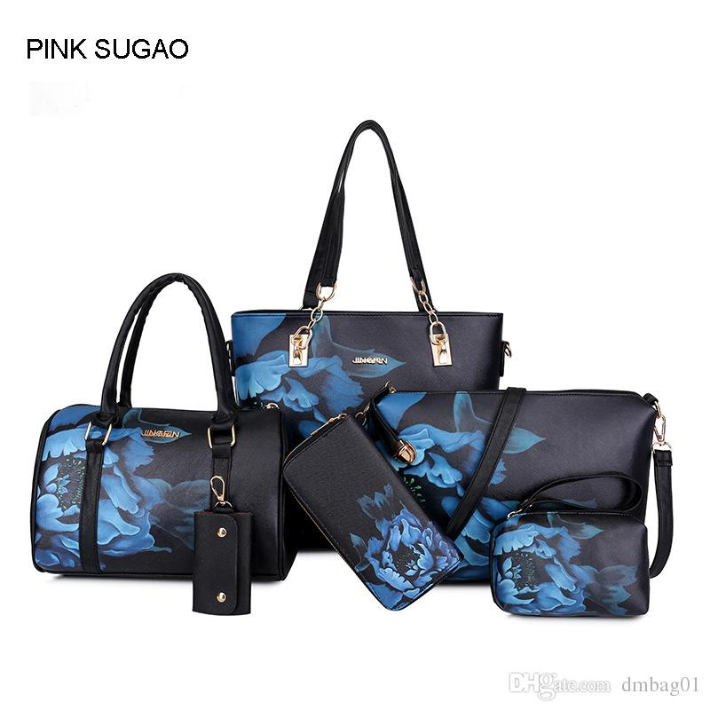 Pink Sugao Designer Handbags Print Flower Women 2018 New Style Pu Leather  Sac À Main Tote Bag Crossbody Shoulder Bag Purse Wallet Reusable Shopping  Bags ...
