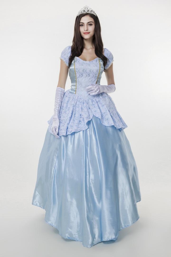 finest selection 1e5a5 67abf Il più nuovo vestito blu chiaro da principessa delle ragazze del vestito da  Cosplay del vestito da Cenerentola delle ragazze del vestito da ...