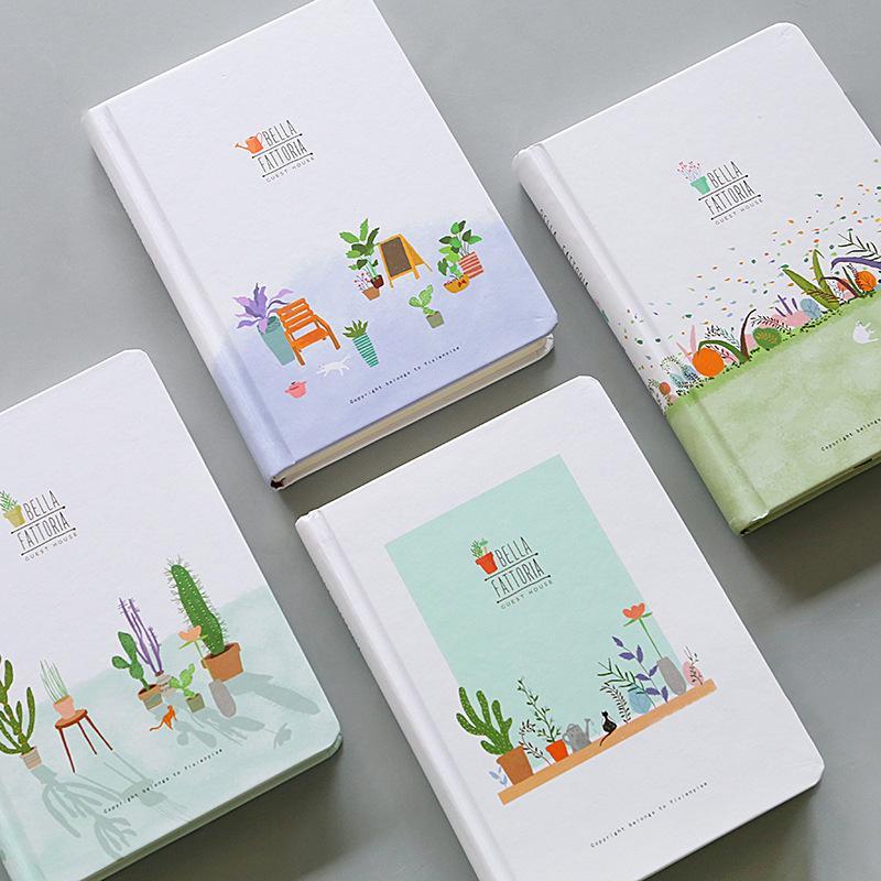 2019 Little Fresh Green Plant Cactus Planner Beautiful Notebook