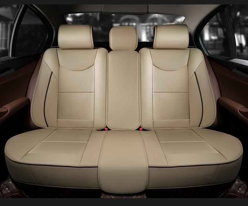 Coprisedili auto interni auto universali Copri sedili auto in carbonio sedan completi Copri sedili in pelle PU durevoli SUV