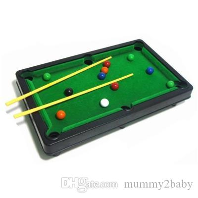 Mini Children Billiard Pool Set Flocking Simulation Desktop Novelty - Mini billiards table set