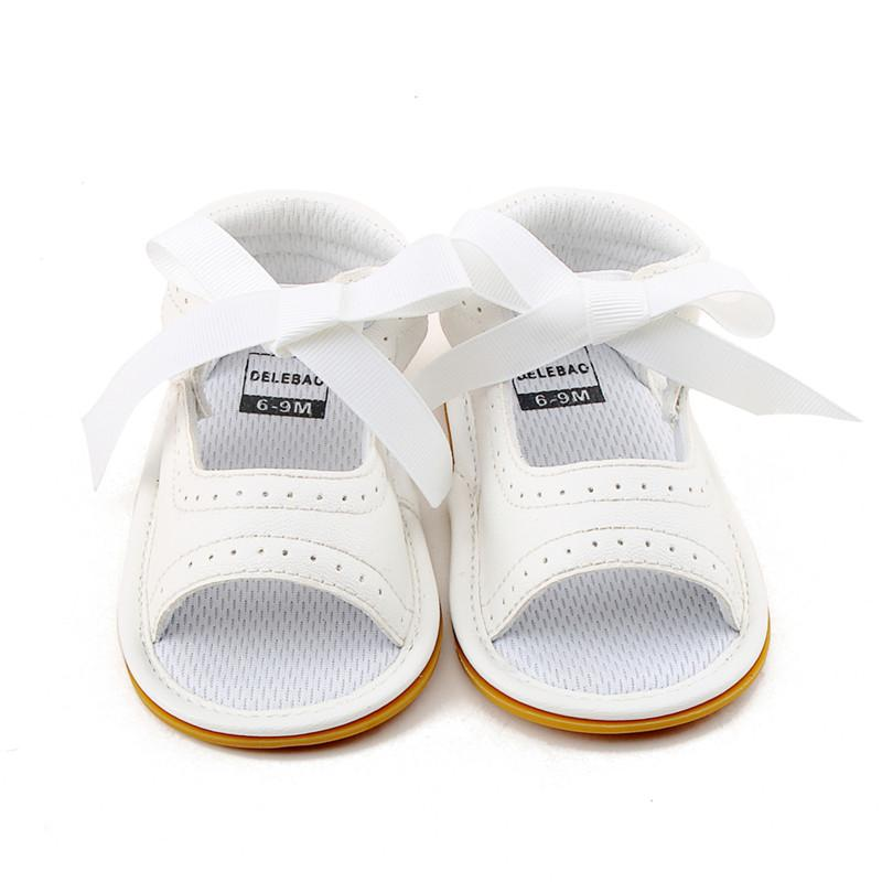 Delebao 2018 New Style Baby Girl Shoes White PU Leather Dot Lace Lace Up  Rubber Sole Newborn Baby Sandals Wholesale Shoes For Little Boys Cheap Kid  Shoes ...