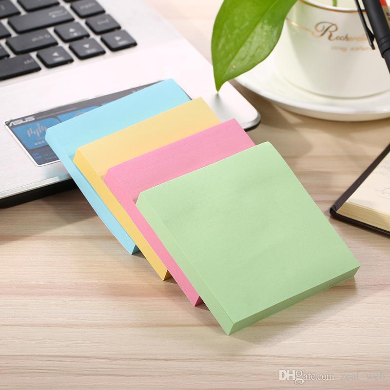 7.6 * 7.6cm مصغرة مذكرة kawaii ذاتية اللصق ملاحظات لاصقة الملونة المنبثقة تلاحظ بلون في الأوراق المالية