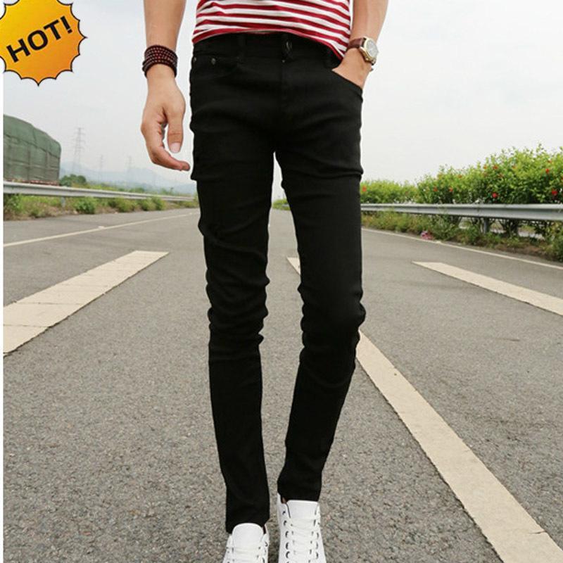 4b186bceb2 New 2018 Spring Summer Skinny Jeans Mens Leisure Stretch Feet Pants ...