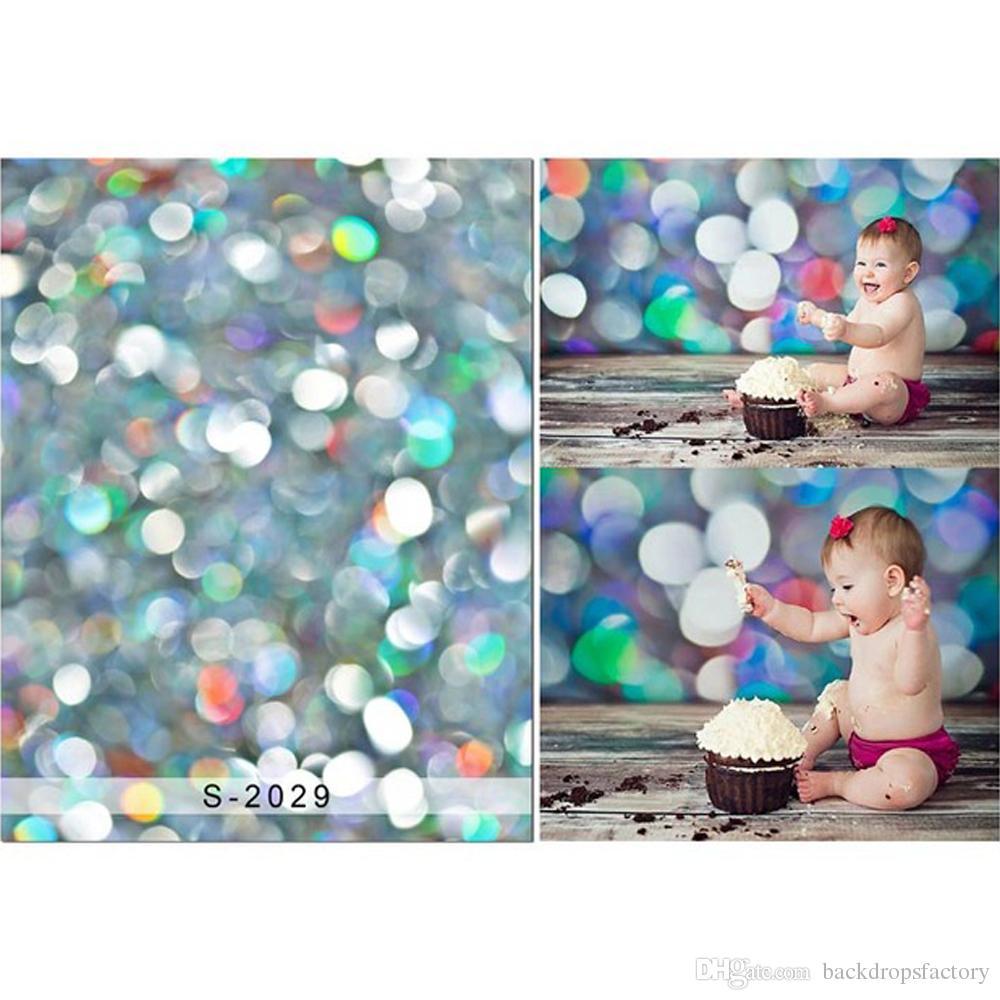 2019 Bokeh Polka Dot Backdrop For Photography Newborn Baby Shower