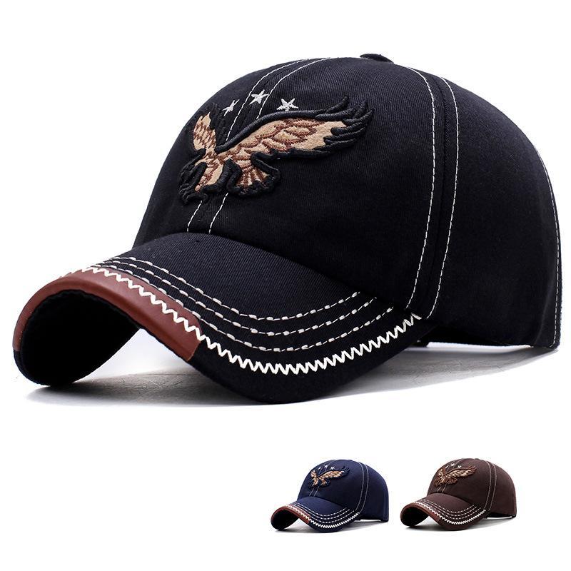 cf399107725 Eagle Embroidery Baseball Cap Men Women Snapback Caps Bone Trucker Cap Dad  Hat Outdoor Sport Adjustable Letter Fitted Unisex Flexfit Cap Ny Caps From  ...