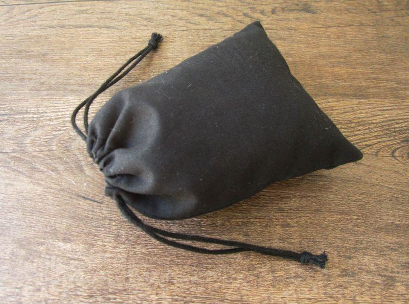 50 sztuk / partia czarna bawełniana torba sznurka saszetka / torby dekoracyjne / torba na pakowanie / torby prezentowe worki biżuterii na zamówienie logo Drukuj 10x13 cm
