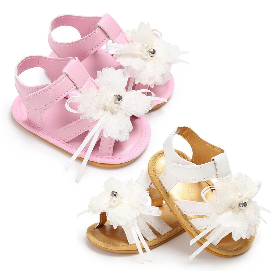9c6b3a88aa7a0a Kids Baby Girls Summer Floral Sandals Soft PU Open Toe Prewalker Crib Shoes  Children S Wedding Party Shoes Kids Sneakers Toddler Sandals From Bdshop