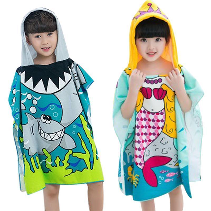 Großhandel Baby Kinder Polyester Strand Umhang Handtuch Mit Kapuze