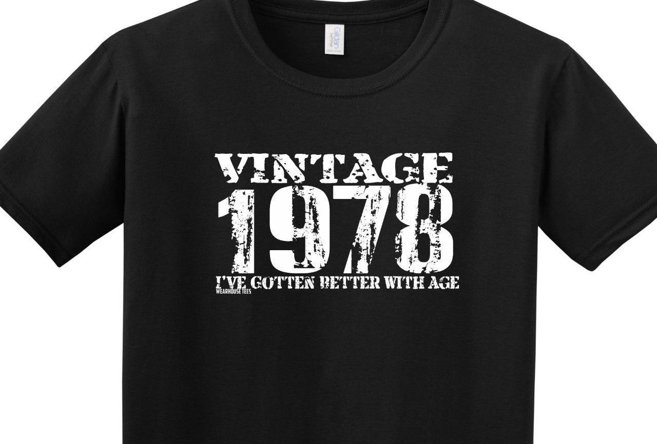 Details Zu Funny 40th Birthday T Shirt Vintage 1978 Better With Age Dad Mom Brother Unisex Casual Shirts Designer White From