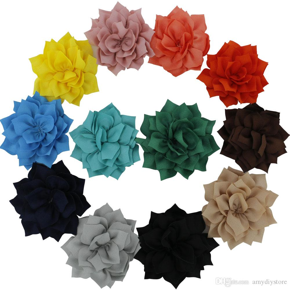 3 Fabric Winter Flowers Flat Back For Kids Hair Accessories Diy