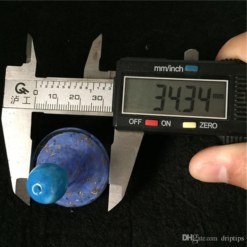 Новые НЛО цветное стекло пузырь карбюратор Cap Hat стиль шапки OD 35 мм для кварца banger кварц тепловой Banger ногти бесплатно DHL