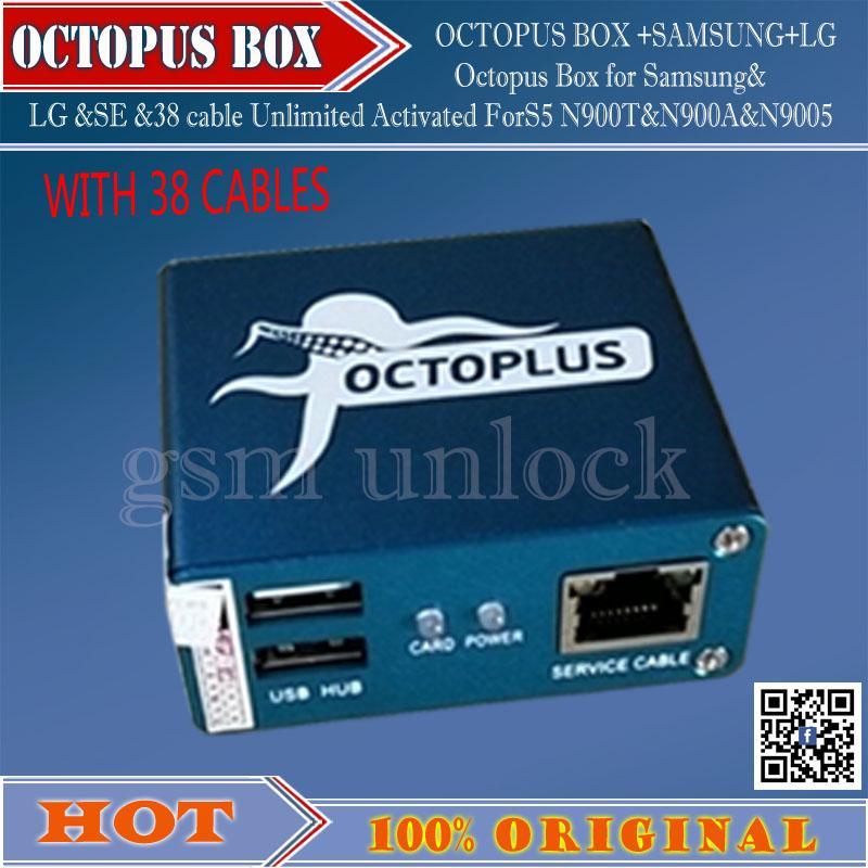 venta al por mayor Pulpo Box activado completo + 38 en 1 juego de cables  completo para LG y para Samsung Desbloquear reparación flash envío gratis