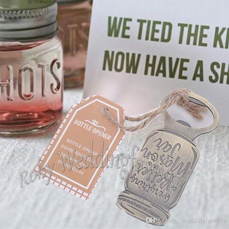 2018 mason jar bottle opener rustic wedding party favors bridal shower party keepsake anniversary event souvenir giveaways from weddingfavours