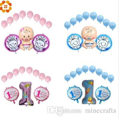 Boy Girl Baby Shower 1st Birthday Party FoilLatex Balloons For Home Decor Kids Gifts Toy Supplies Air Balloon Festival Delivery