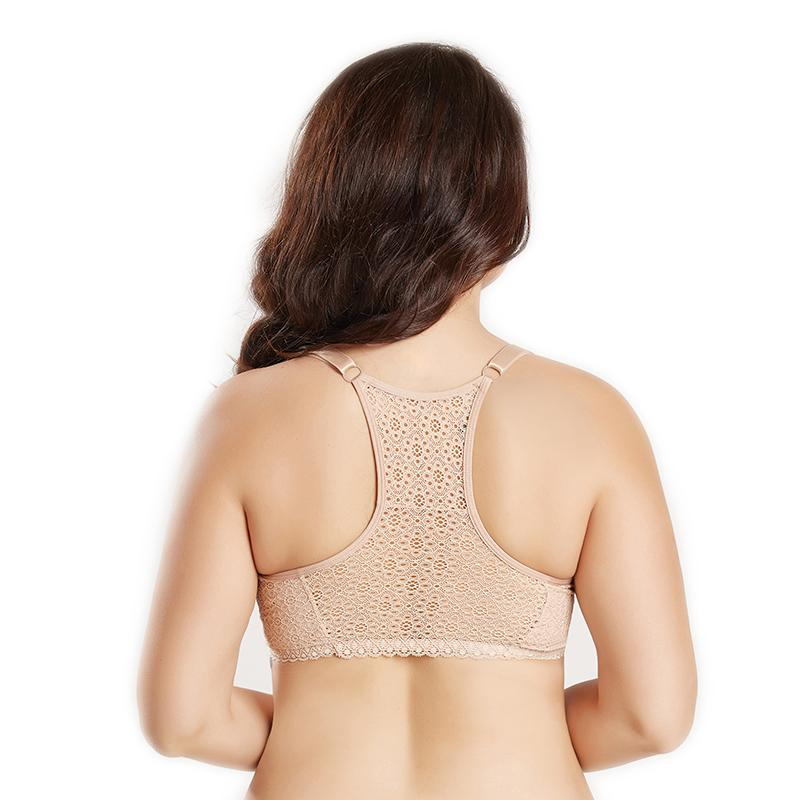 2f4210dbf8 2019 Push Up Plus Size Bra Crop Tops Bras For Women Front Closure Female  Underwear Lingerie Back Sexy Lace Brassiere Pj6010 From Chengdaphone03