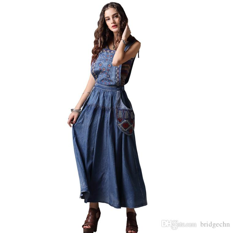 Acquista Moda Casual Allentato Abito Dritto 2018 Blue Denim Autunno Dress  Dress Turn Down Colletto Maniche Lunghe Mini Abiti Da Festa D epoca A   63.68 Dal ... 68cb3c1e777