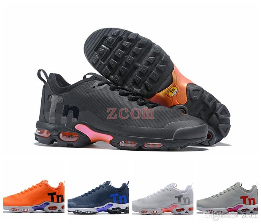 3beb5387ab 2018 New Mercurial Plus Tn Ultra SE Black White Orange Running Shoes Brand  Designer Women Mens Trainers Sports Chaussures Tns Athletic 36 46 Shoes On  Sale ...