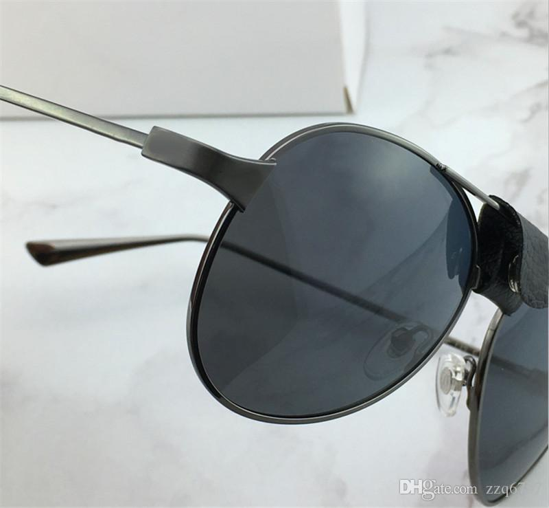 Новая моды мужчины солнцезащитных очков, пилот каркасного сантоса кожа людей конструкции металлической конструкция рама винты дизайн высшего качества с case00271