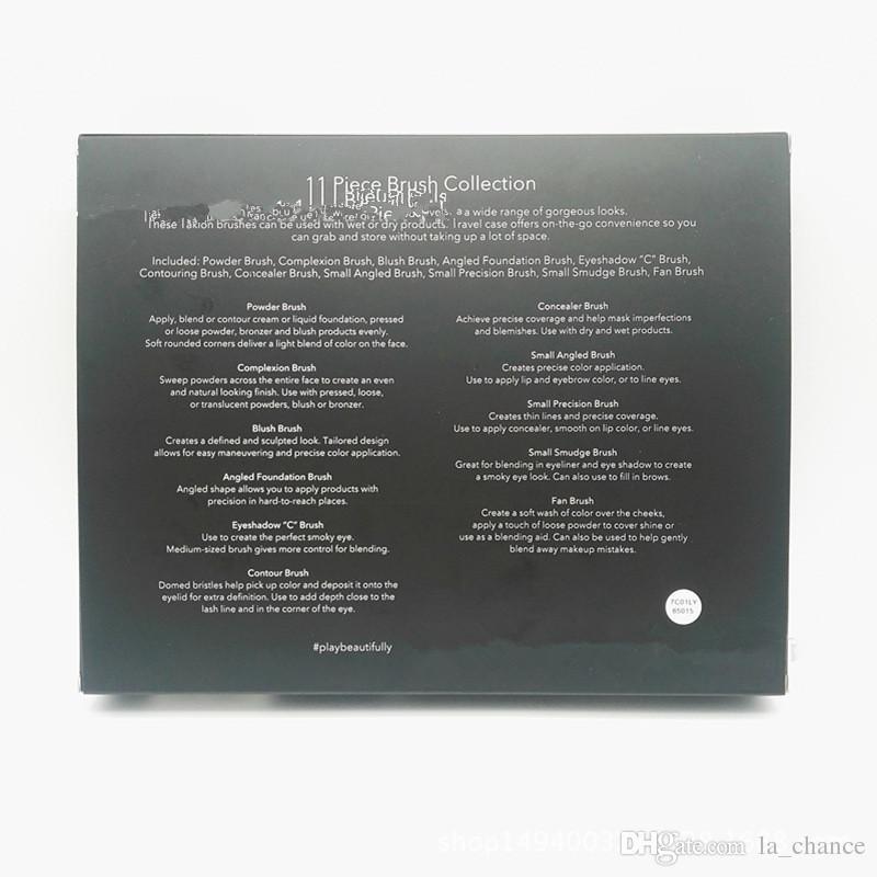 دروبشيبينغ 2018 العلامات التجارية المكياج الجديدة الساخنة 11 قطعة فرشاة مجموعة e.i.f مجموعات فرش ماكياج