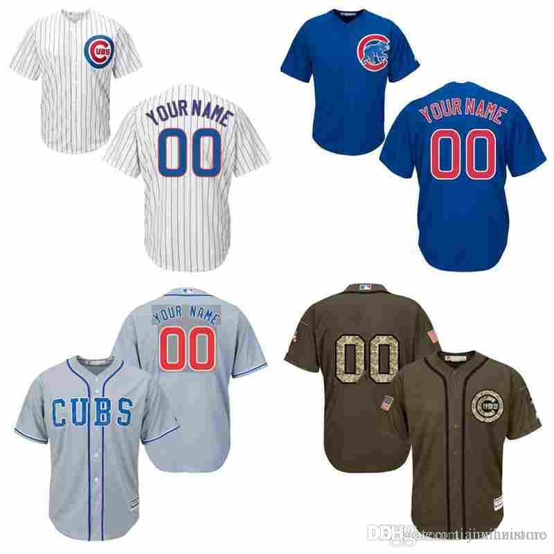 2016 World Series Champions patch mens custom co cubs Personalized Home  Road wholesale Customized Baseball jersey size S-3XL