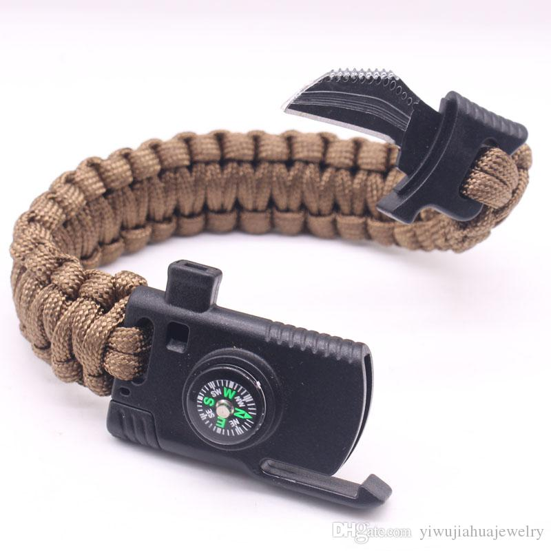 2018 New Design 550 Paracord Bracelet Tactical Multi-purpose Outdoor ... 2d032db4ceb