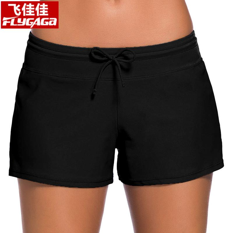 18f8544c1b8 2019 FLYGAGa 2018 Summer Bikini Bottoms Low Waist Swimwear Women Quick Dry Swimsuit  Women Bathing Suit Wide Waistband Beach Shorts From Vikey13, ...