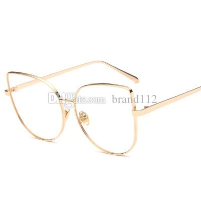 83c0a3c169a 2018 New Sexy Big Cat Eye Glasses Frames for Women Brand Black ...