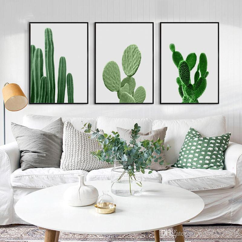 2018 Nordic Poster Canvas Painting HD Wall Art Prints Minimalism Green  Plant Cactus Pictures Living Room Kids Room Home Decoration From  Xu793737893, ...