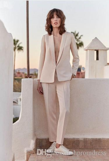 ed52c9515a77 Light Pink Set Womens Business Suit Female Trouser Suits Wedding Formal  Pant Suits Formal Office Suits Work Custom Mathar Son Mother Of The Groom  Suit From ...