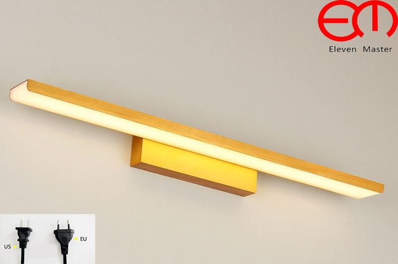 Acquista golden minimalista mordern lampada da specchio applique da