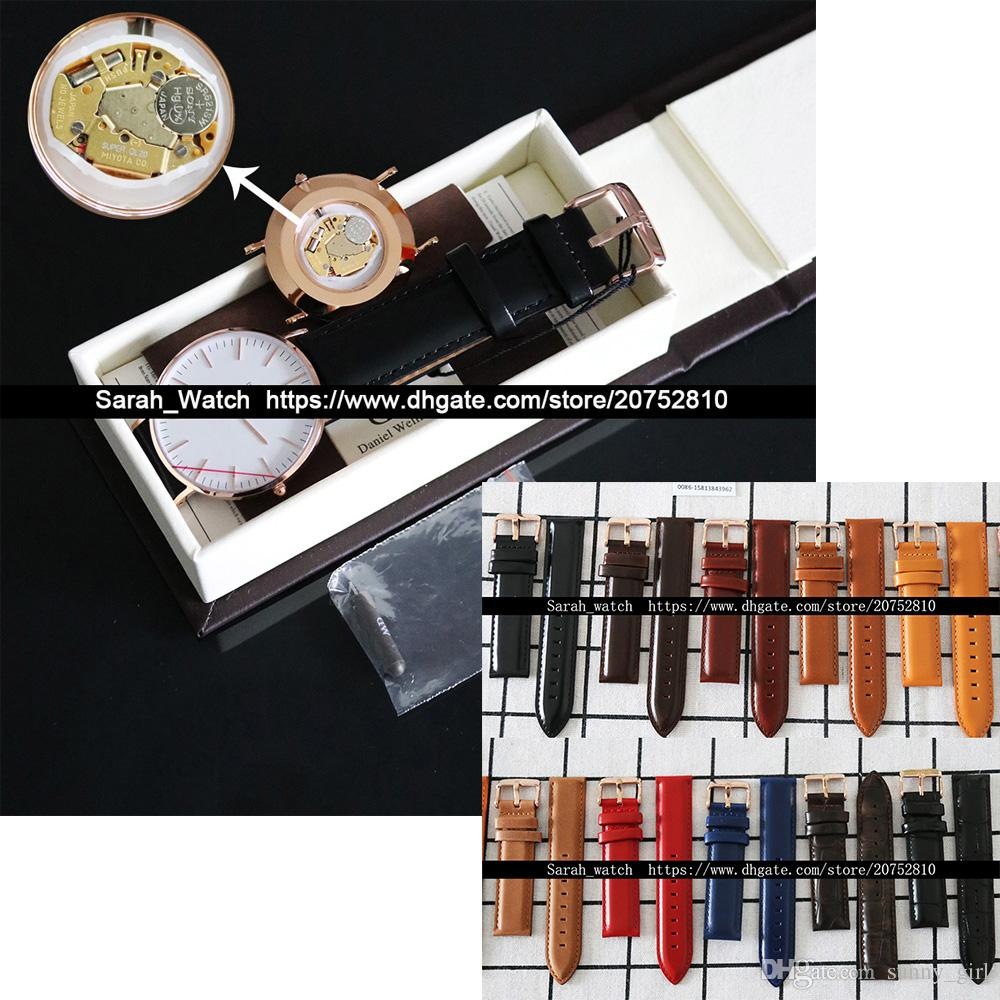 d8b3c94f8d42 Best Version 36mm   40mm White   Black Face Leather Watchband Men Watch  Dress Watch Leather Watch Box is Optional Drop Shipping Online with   41.32 Piece on ...