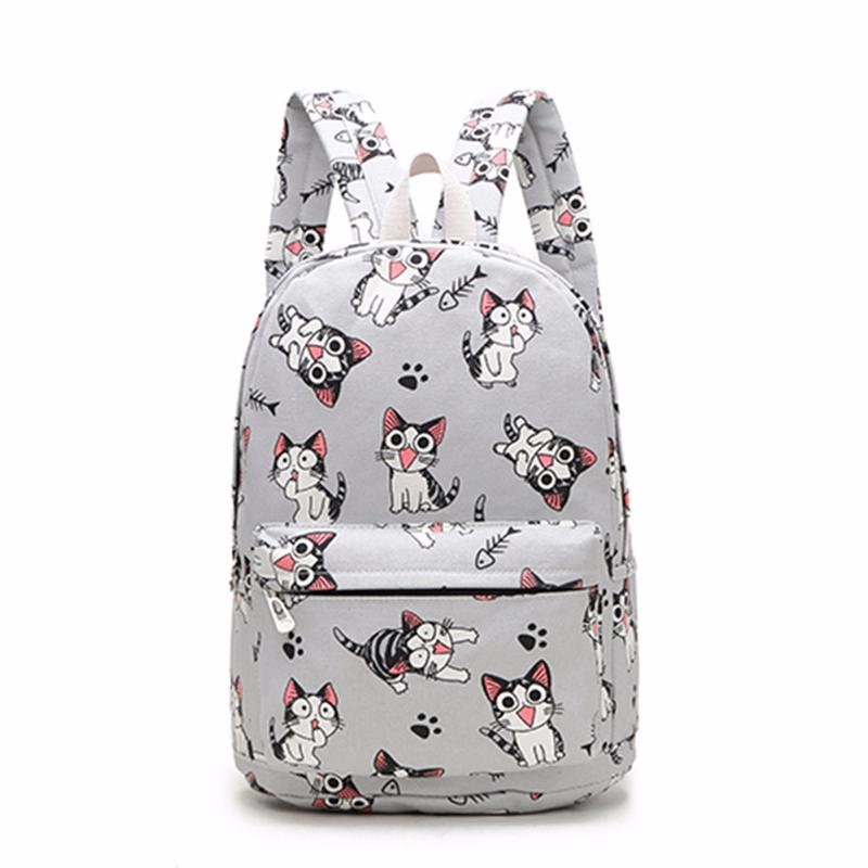 fdf98f18cae6 2018 New Designed Stylish Cat Printing Man And Woman s Backpack ...