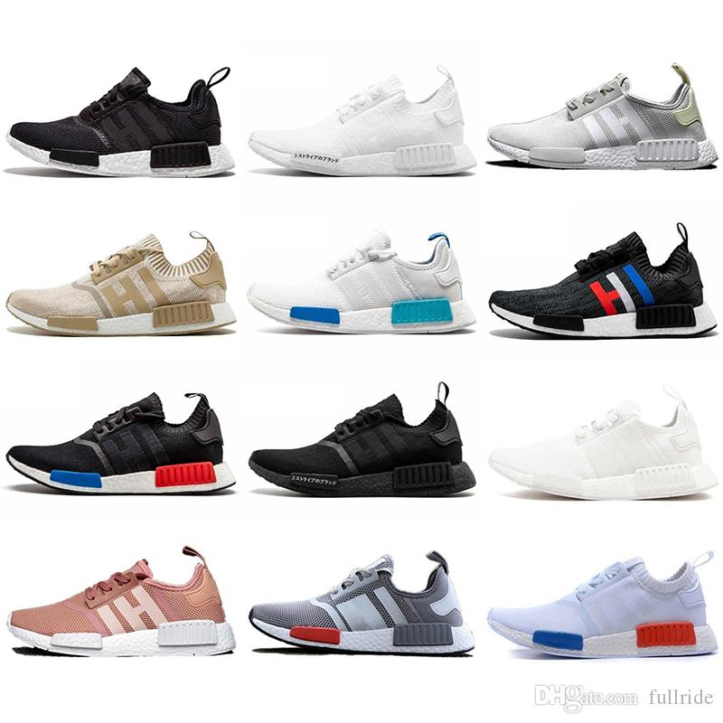 2cac70af3fb19 Wholesale NMD R1 Primeknit Top Quality Running Shoes Xr1 Classic Color Mesh  Triple White Cream Salmon Athletics Sneakers US 5 11 Cheap Shoes Men Running  ...