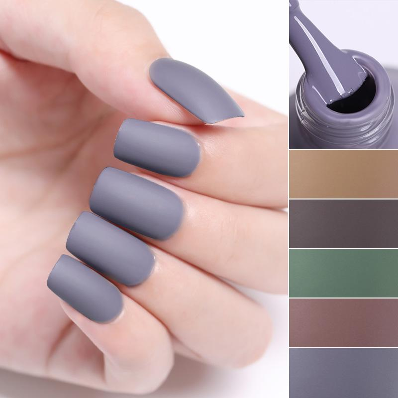 Born Pretty 6ml Matte Nail Polish Colorful Nail Art Varnish Quick