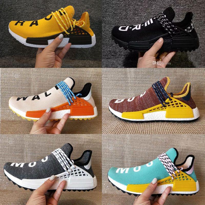 best service 5750d 1dca8 Compre 2018 Adidas Yeezy NMD BOOST Homecoming Creme X NERD Solar PacK Human  Race Zapatillas Para Correr Pharrell Williams Hu Zapatillas Deportivas Para  ...