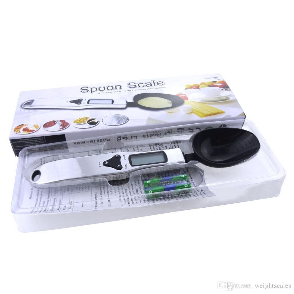 ملعقة الرقمية مقياس 500 جرام / 0.1 جرام مطبخ مقياس الالكترونية مقياس وزنها المجارف guage للطبخ ، الخبز ، portioning