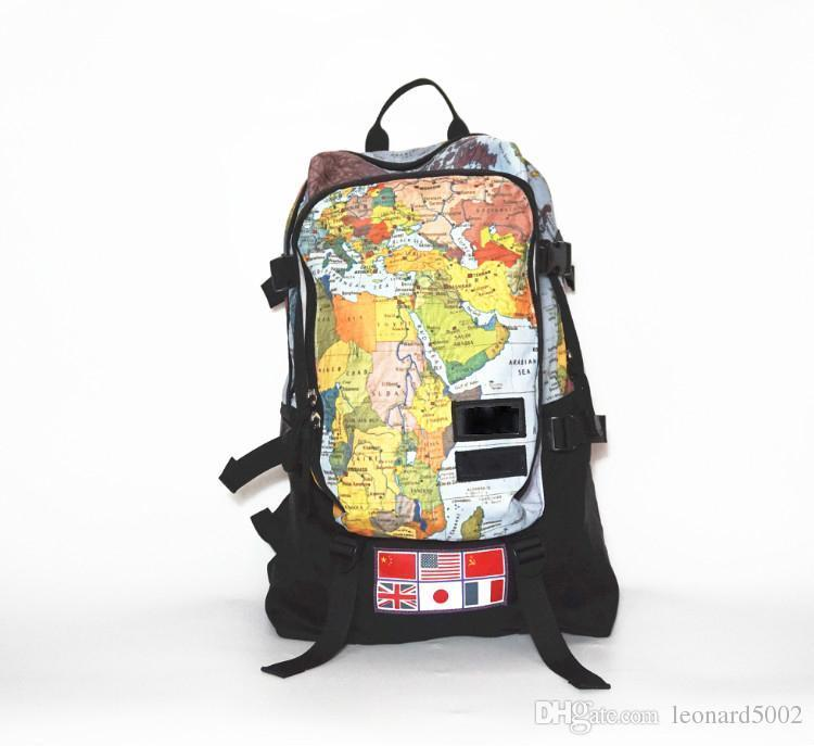 Brand Sup Ss World Map Nation Flag Backpack White Branche Backpack
