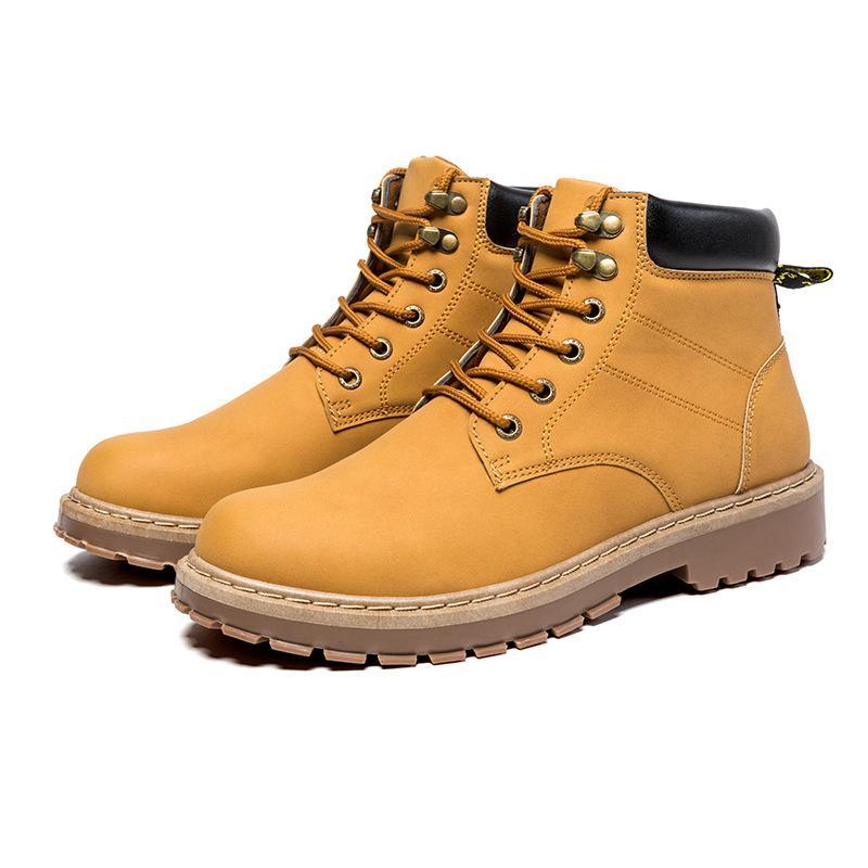 920ec31865da Großhandel Herren High Top Gepolsterte Stiefel Neue Winter Overalls  Lederstiefel Heiße Art Martin Stiefel England Stil Schuhe Von Shiyan426,   24.82 Auf De.