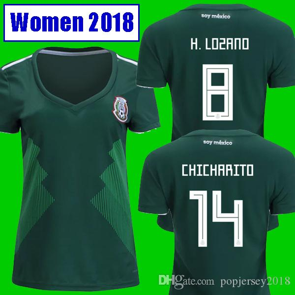 bfc68552e 2019 Thailand Camisa WOMEN Mexico Soccer Jersey 2018 2019 CHICHARITO LOZANO  MARQUEZ DOS SANTOS GUARDADO Girls Football Shirt Camisetas De Futbol From  ...