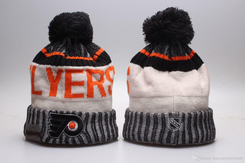 2018 New Hockey Knitted Beanies Good Quality Winter Warm Skull Hats ... e0d7318d456