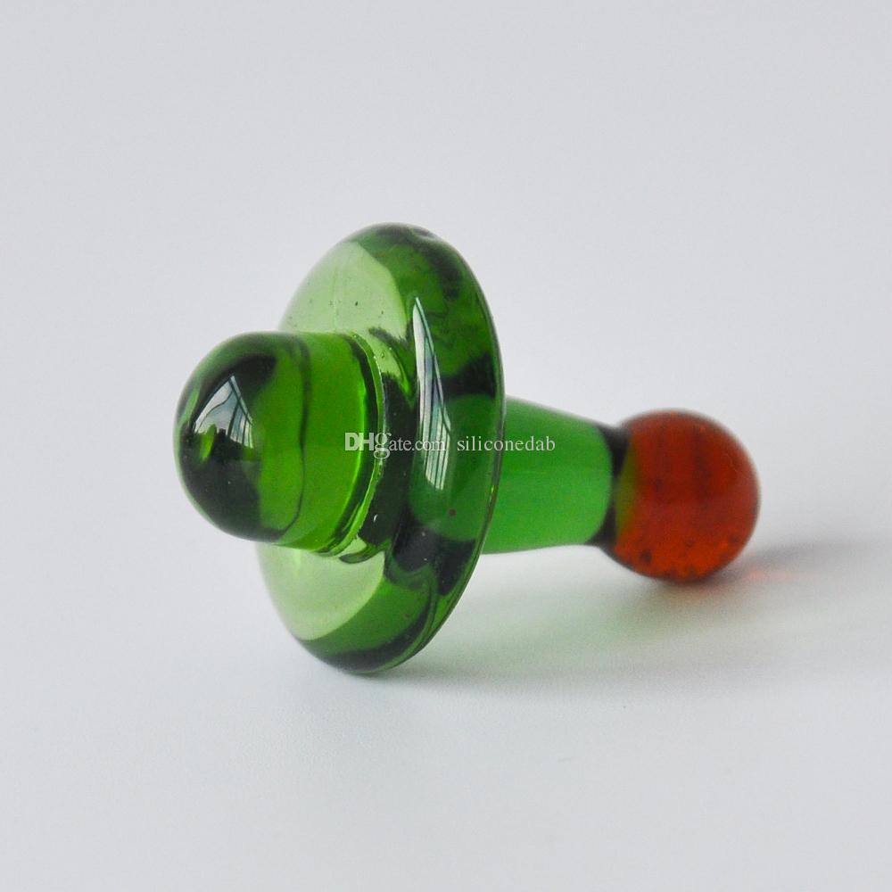 Good Price Glass UFO Carb Cap Diameter 23mm For Quartz Banger Nail Universal Colorful ball Dab Rig