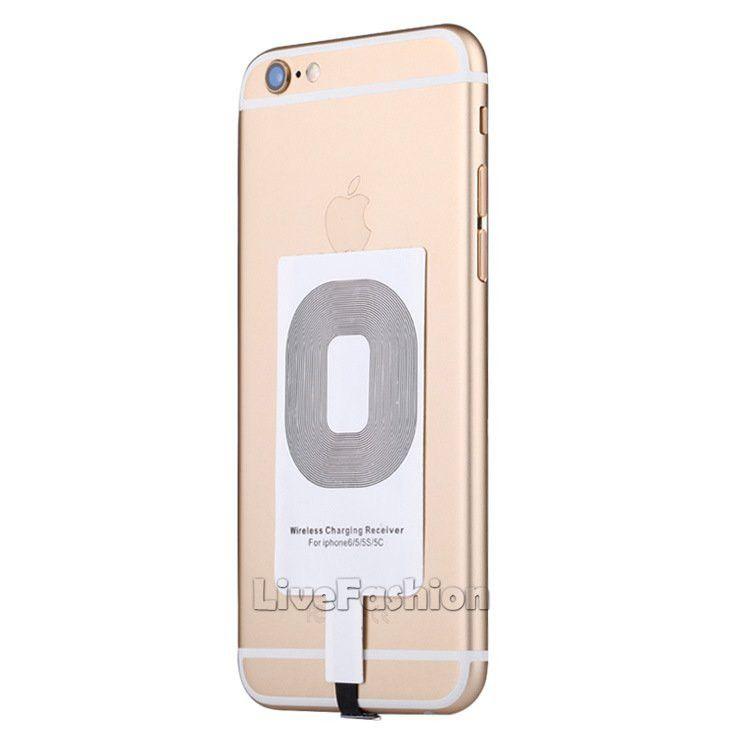 Qi Cargador Inalámbrico Cargador Adaptador Módulo Adaptador de carga Etiqueta Para IPhone X 7 5 5C 5S 6 6 S Plus Para Samsung Android iPhone Universal