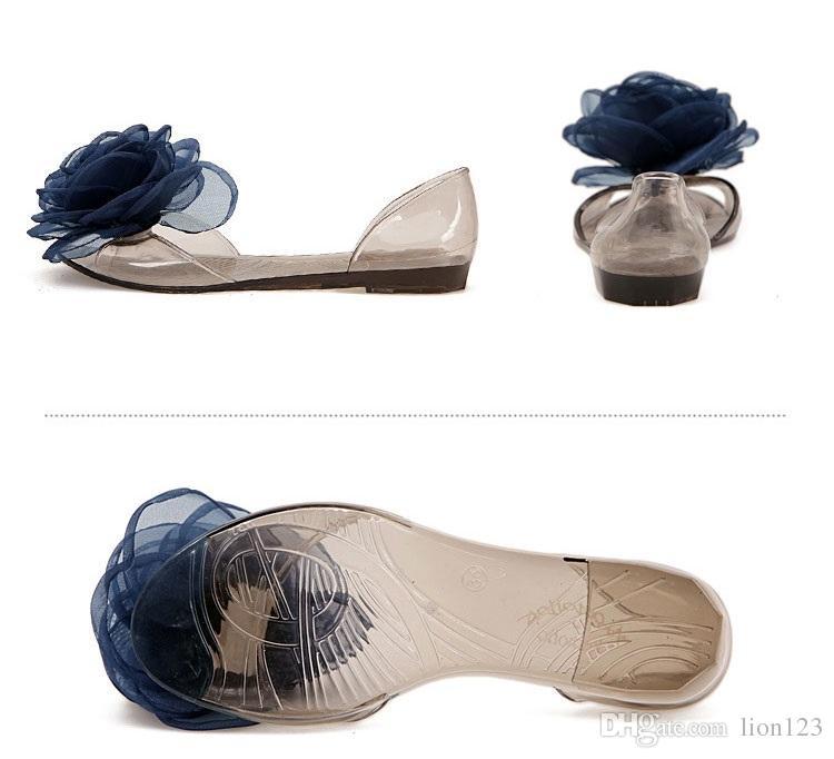 Sandali in cristallo trasparente resina estiva sandali trasparenti bow bling sandali femminili aperti