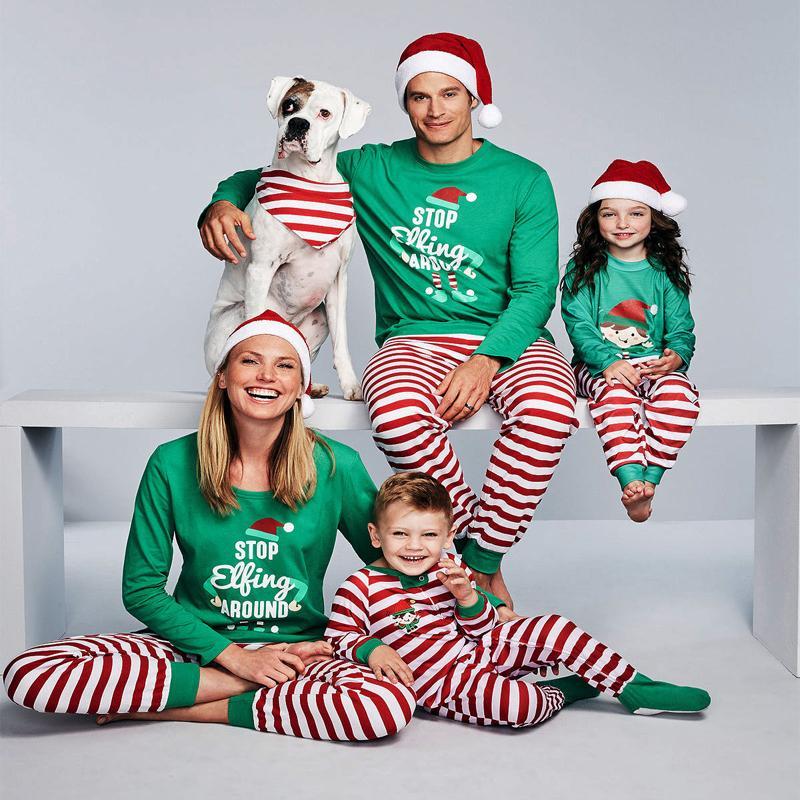 4cc0eab950e2 2019 Family Matching Kids Mom Dad Christmas Cute Santa Printing Tops ...